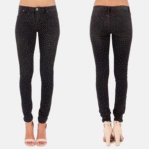 Blank NYC Spray On Instaglam Studded skinny jeans